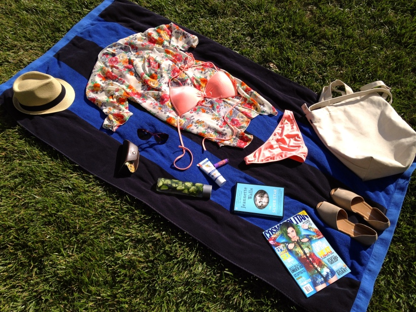 What to pack for a pool day.
