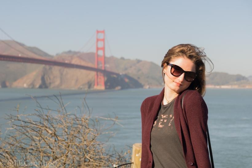 H&M Sweater, Obey T-shirt, Levi's Jeans, Nordstrom Sunnies, Golden Gate Bridge