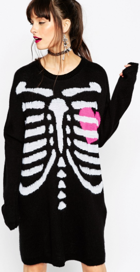 ASOS skeleton sweater