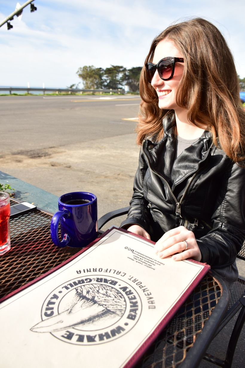 Whale City Bakery, Abercrombie Leather Jacket, Free People Tank, Nordstrom Sunnies