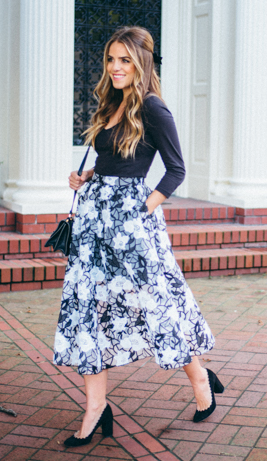 gal meets glam midi skirt