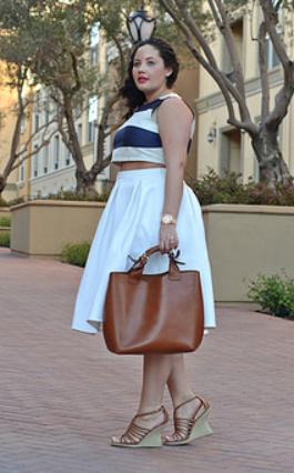 Girl With Curves Midi Skirt