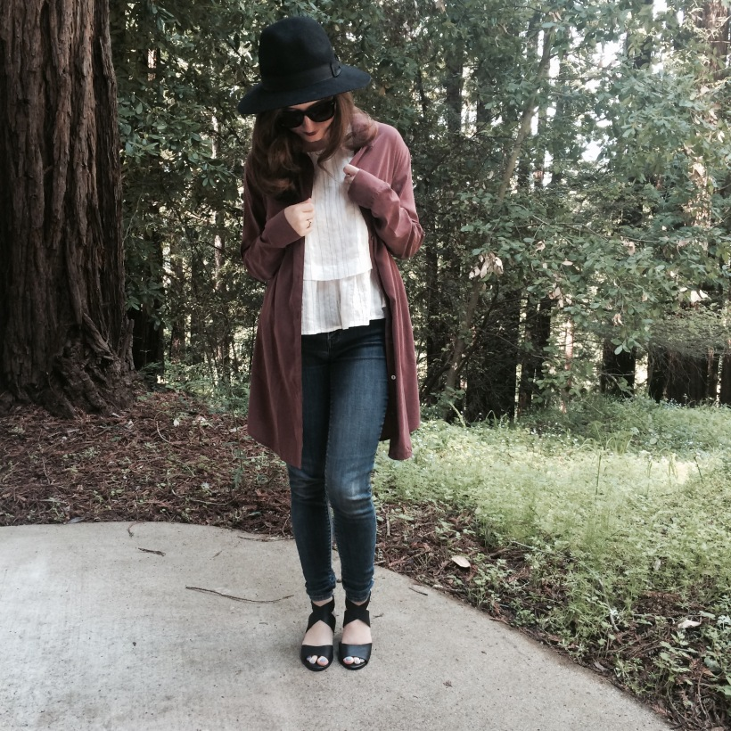 Brandy Hat, Forever 21 Tops, Levis Jeans, Lucky Brand Sandals