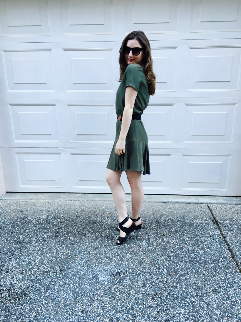 Gap Dress, Nordstrom Sunnies, Lucky Brand Heels, Urban Belt
