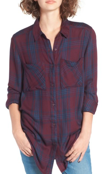 burgundy flannel