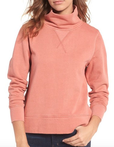 the funnel neck pullover