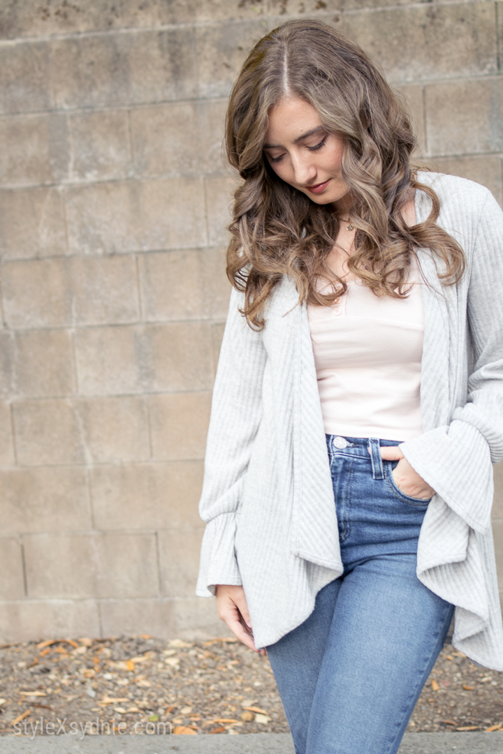 jeans, crop top, heels, cardigan, forever 21, urban outfitters, nordstrom, clarks, california, santa cruz, sc, ca, feminine, curly hair, jewelry, photography, nikon, d5300, 35mm, portrait, fashion