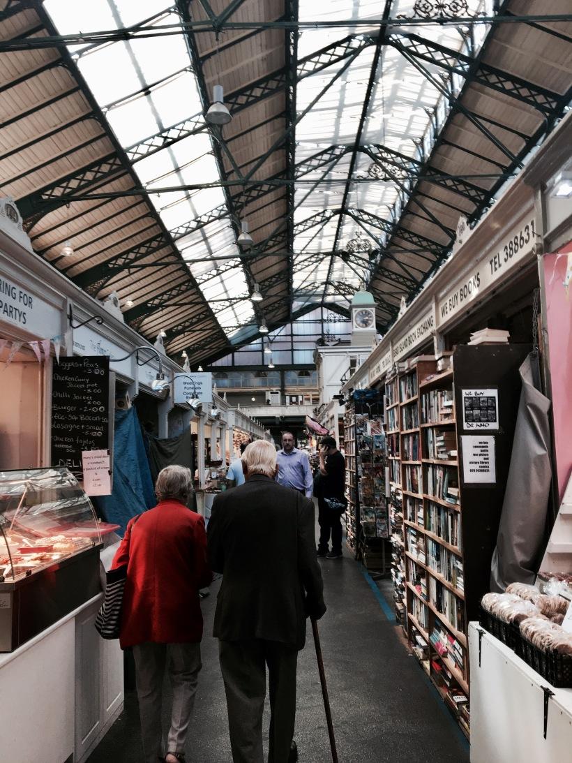 cardiff market, wales, travel
