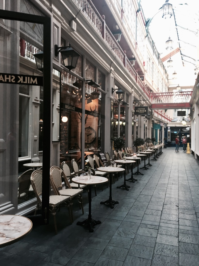 castle quarter arcades, cardiff, wales, travel