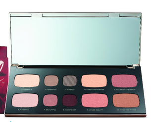 bare minerals palette, makeup, travel