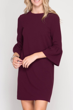 holiday, dresses, bell sleeve