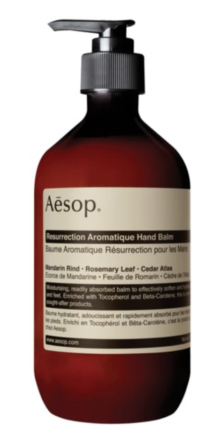 Aesop lotion, christmas shopping