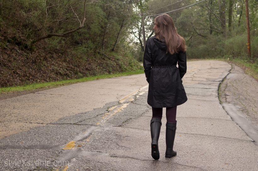 hunter rain boots, rain, winter, norcal, winter fashion, blogger, ootd, raincoat
