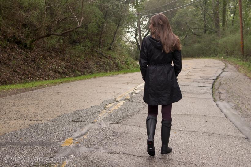hunter rain boots, rain, winter, norcal, winter fashion, blogger, ootd, raincoat