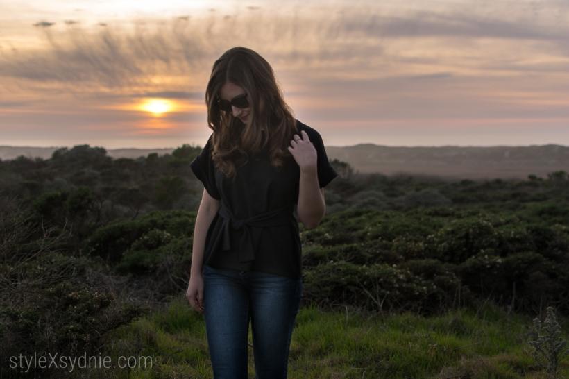 Moss Landing, Monterey, Hunter Rain Boots, Express Top, Sunset