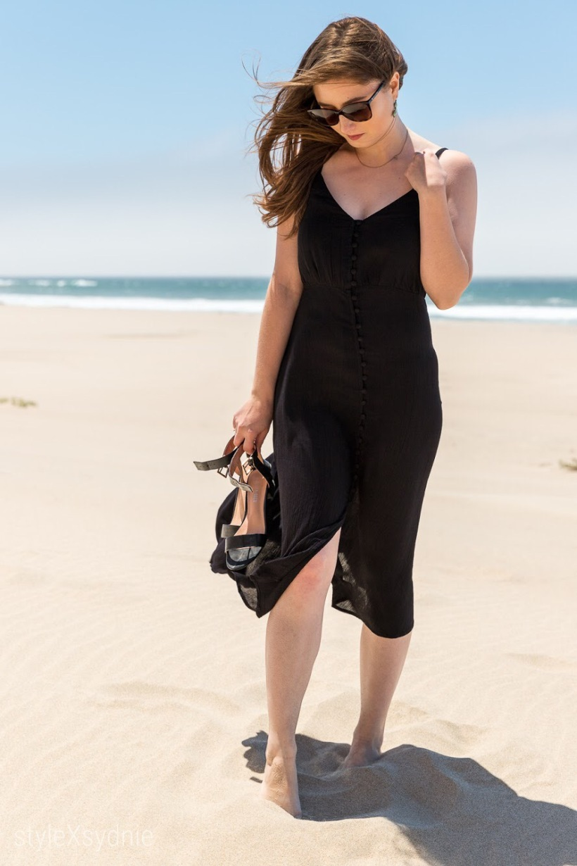 Summer, Little Black Dress, Beach